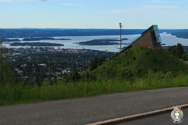 Aussicht auf den Oslofjord von der Øvreseterveien
