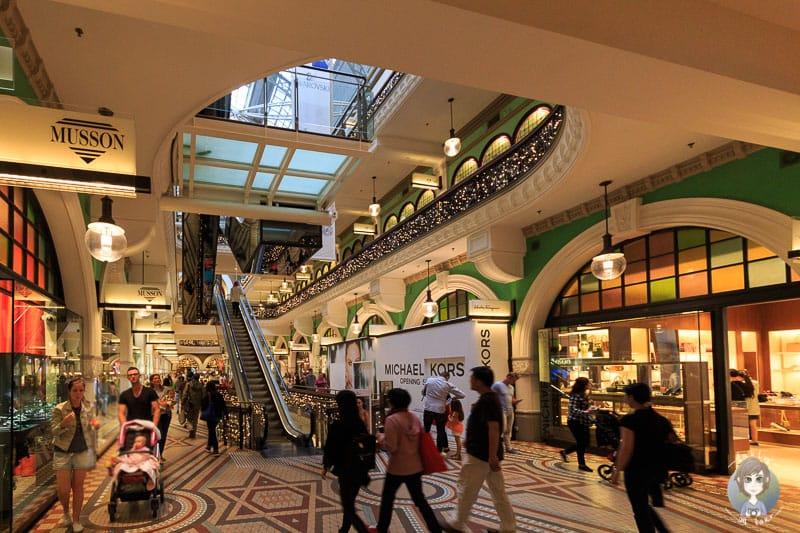 Shops und Galerien im Queen Victoria Building