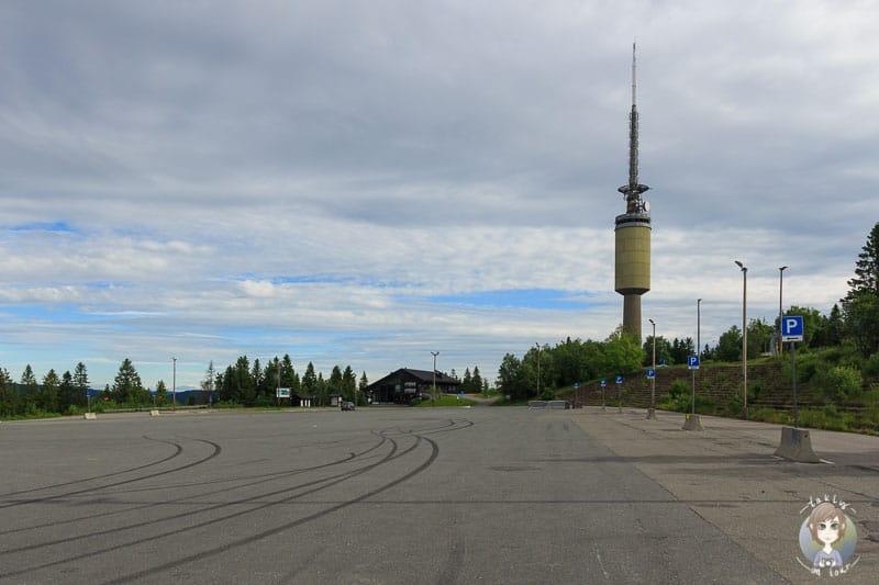 Parkplatz vom Vinterpark in Oslo