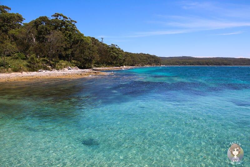 Blick auf das türkise Meer auf unserem Roadtrip mit dem Camper an Australiens Ostküste
