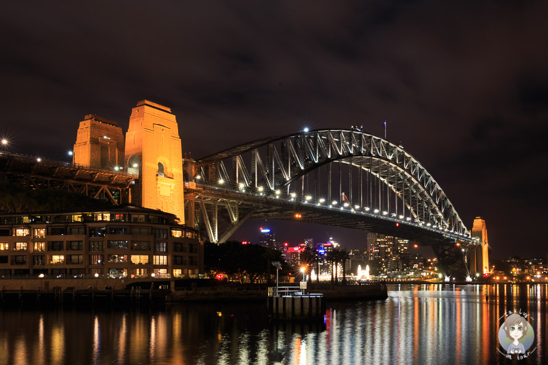Die Harbour Bridge vom Campbell's Cove Lookout in Sydney