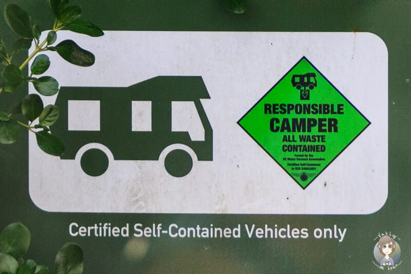 Self Contained Zertifikat zum Freedom Camping in Neuseeland