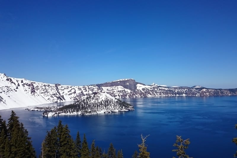Crater Lake in den Cascade Mountains