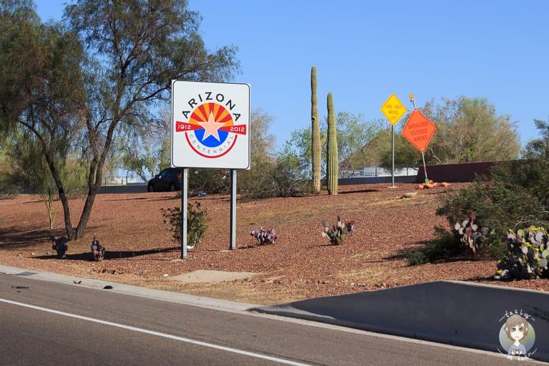 Willkommen in Arizona Schild