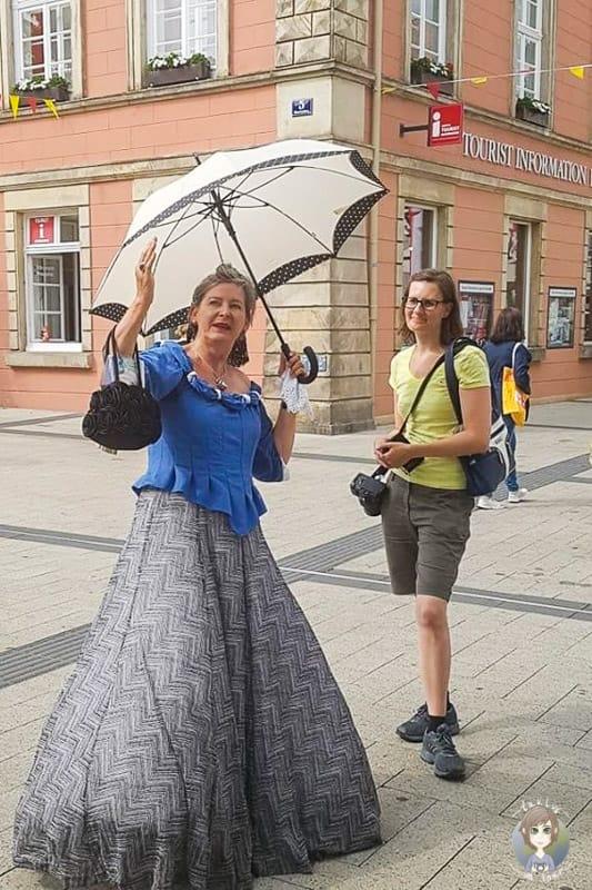 Unterhaltsame Stadtführung (Foto: S.Nielsen, Detmold Tourismus)