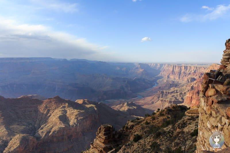 Die Aussicht auf den Colorado River im Grand Canyon