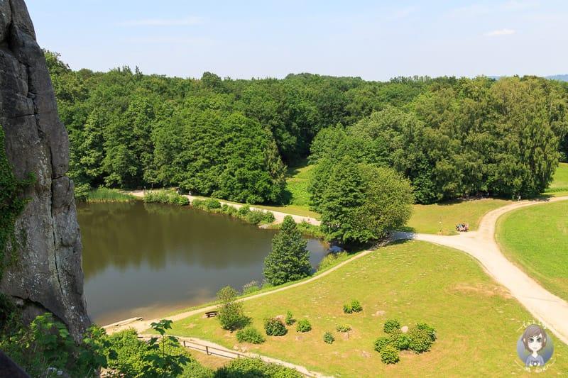 Aussicht von den Externsteinen im Teutoburgerwald