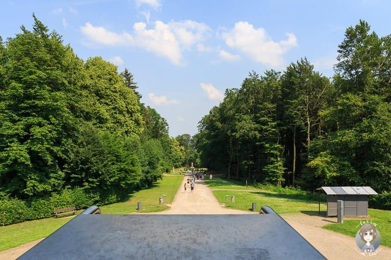 Blick vom Drehkreuz des Hermannsdenkmals