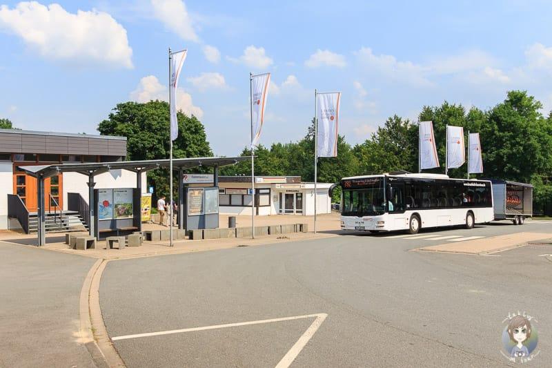 Bus am Hermannsdenkmal