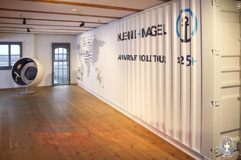 Container im Maritimen Museum Hamburg