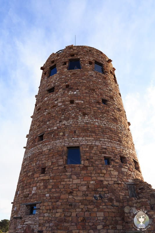 Der Desert View Watchtower am Grand Canyon