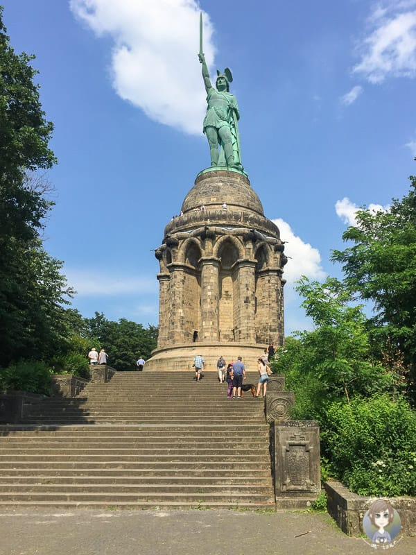 Die Bilderbuchperspektive vom Hermannsdenkmal