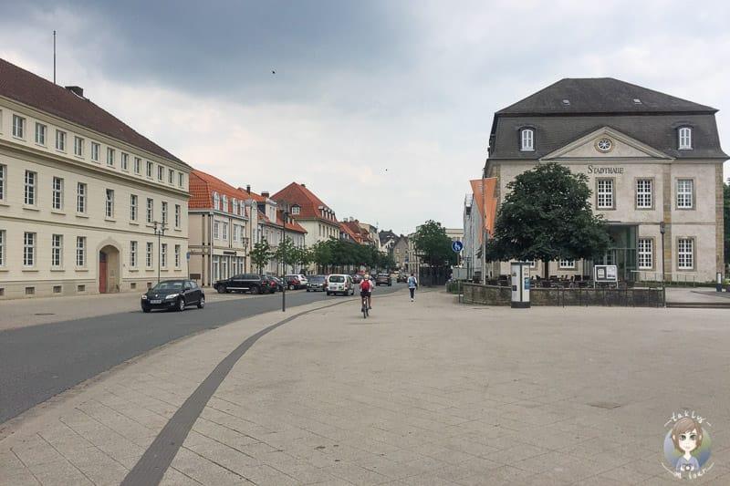 Blick vom Theaterplatz auf die Innenstadt Detmold