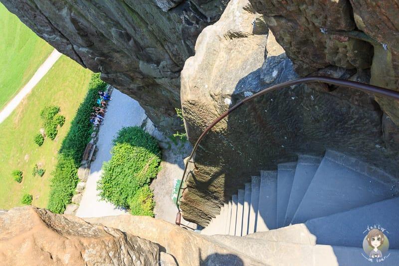 Besteigung der Externsteine mit Höhenangst