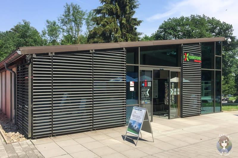 Das Infozentrum an den Externsteinen im Teutoburger Wald