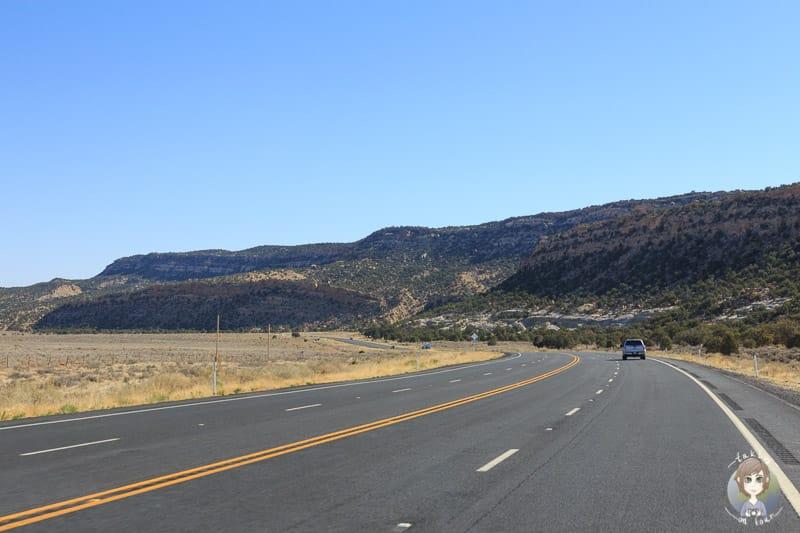 Auf der Fahrt Richtung Kayenta