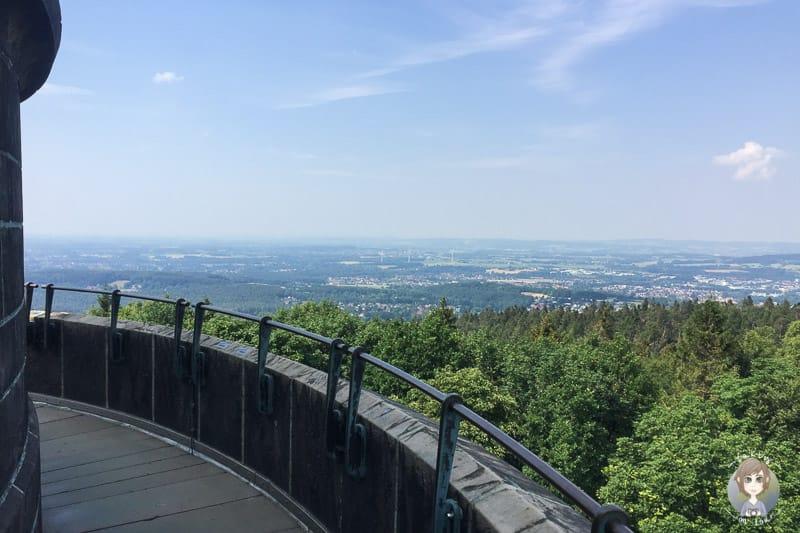 Tolle Fernsicht vom Hermannsdenkmal in Detmold
