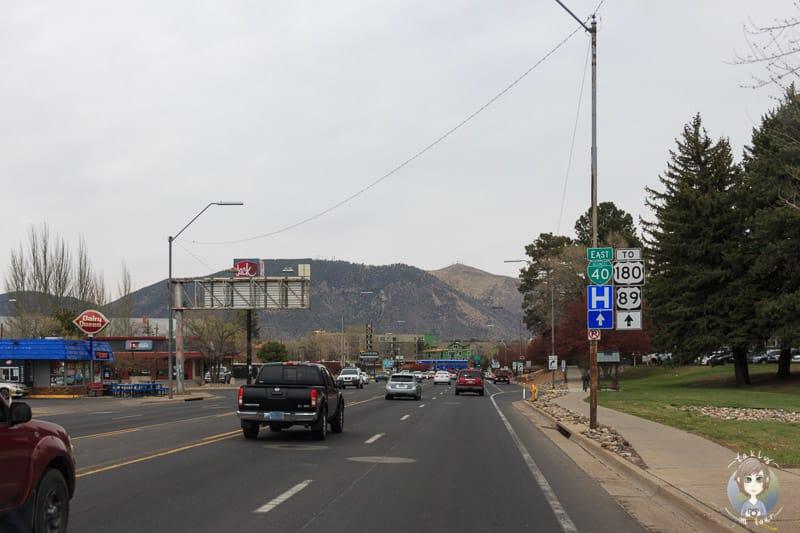 Fahrt durch Flagstaff