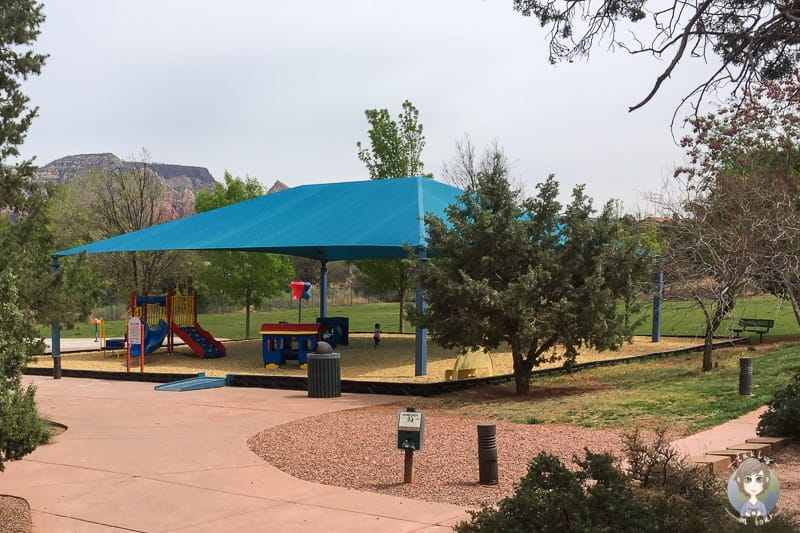 Der Kinderspielplatz im Sunset Park in West Sedona