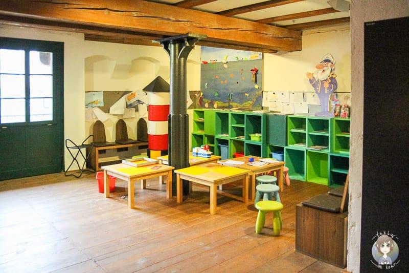 Kinderecke im Maritimen Museum in Hamburg