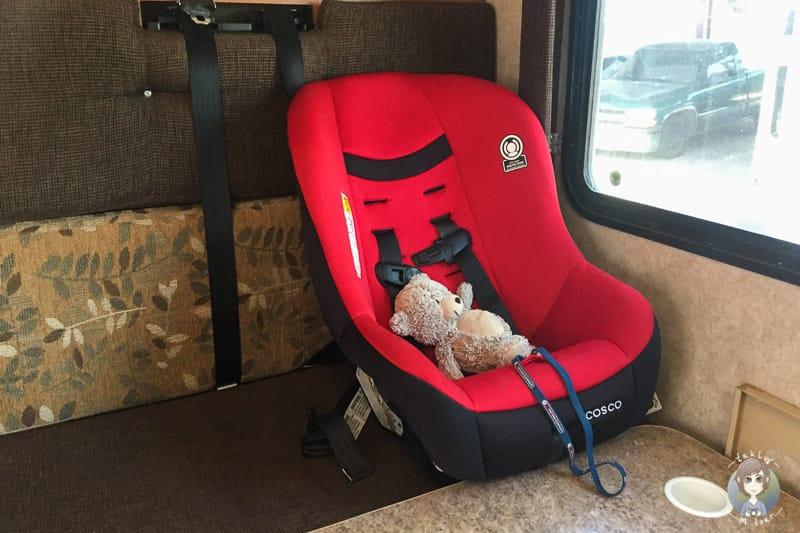 Kindersitz in den USA im Wohnmobil