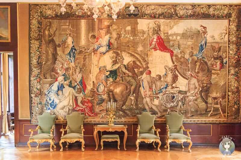 Ein Königszimmer im Residenzschloss Detmold