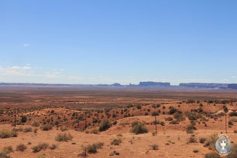 Die Umgebung des Monument Valleys hat eine sehenswerte Landschaft