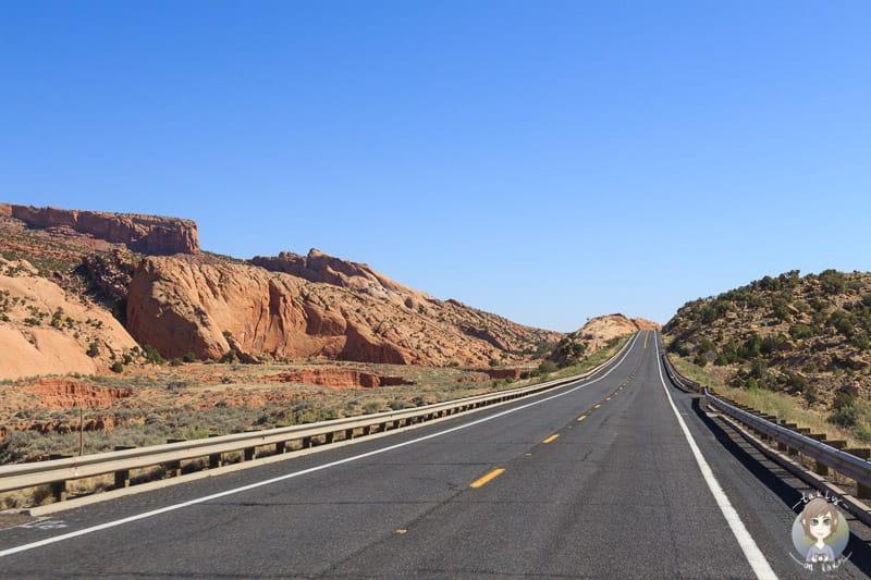 Eine typische Landschaft in Utah