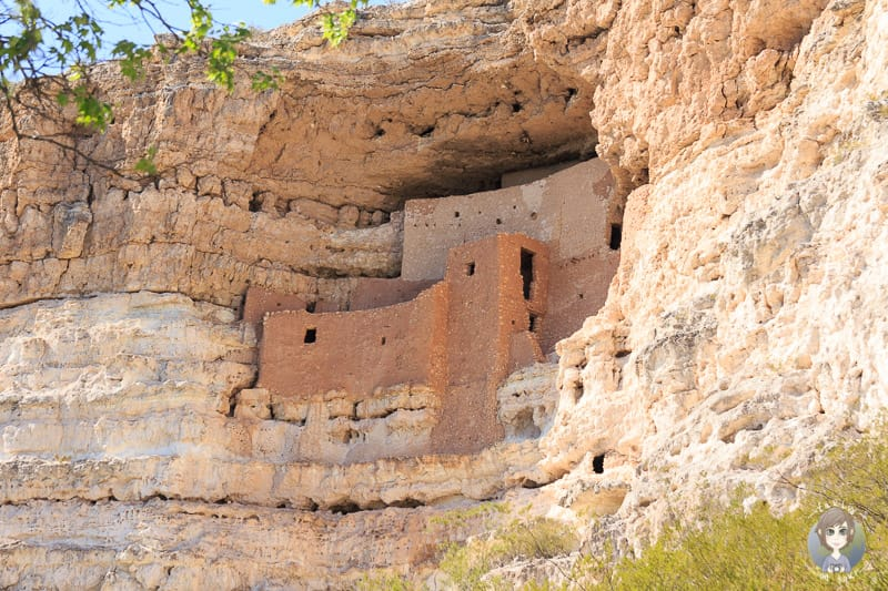 Blick auf das Montezuma Castle National Monument in Arizona