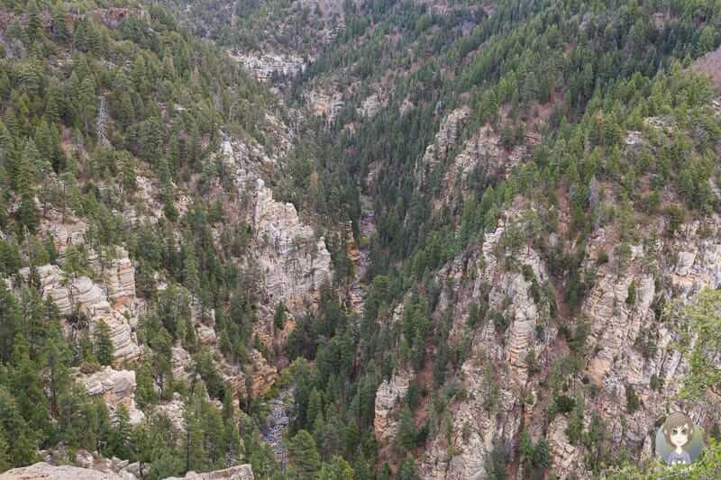 Eine tolle Aussicht in den Canyon