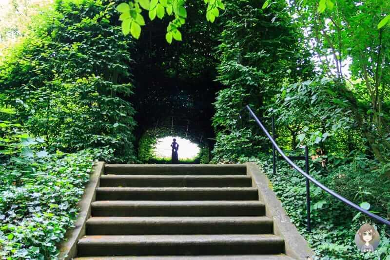 Privater Garten vom Schloss Detmold