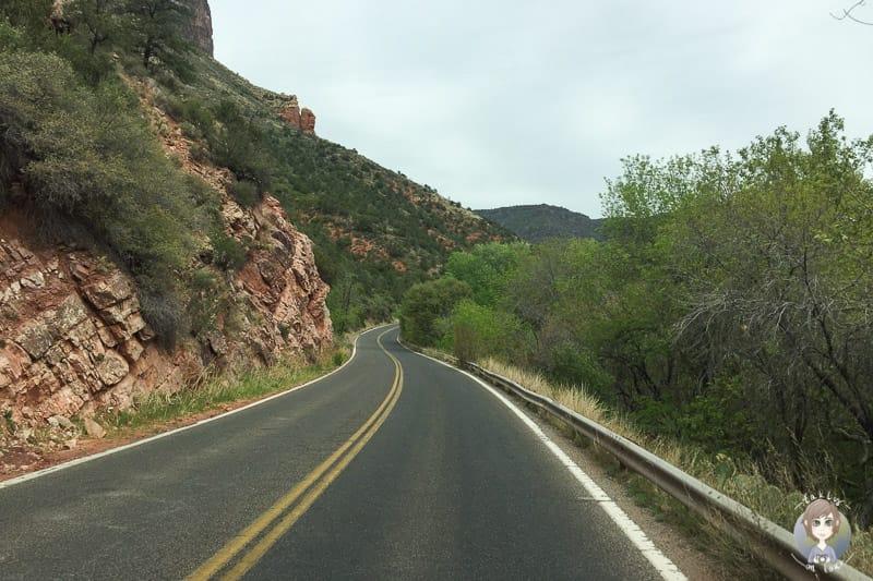 Unsere Fahrt Richtung Oak Creek Canyon