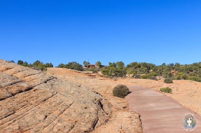 Blick zurück auf dem Sandal Trail