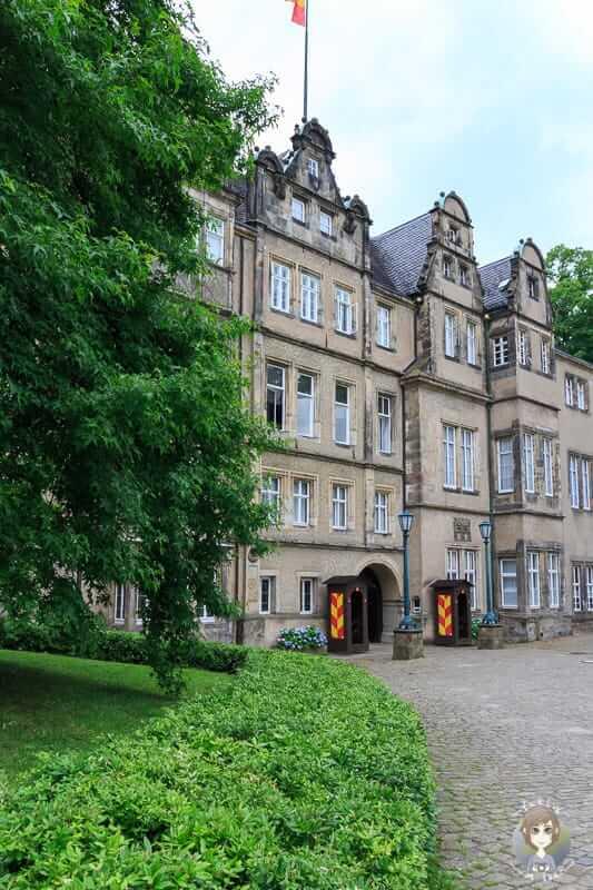 Die Fassade vom Schloss Detmold