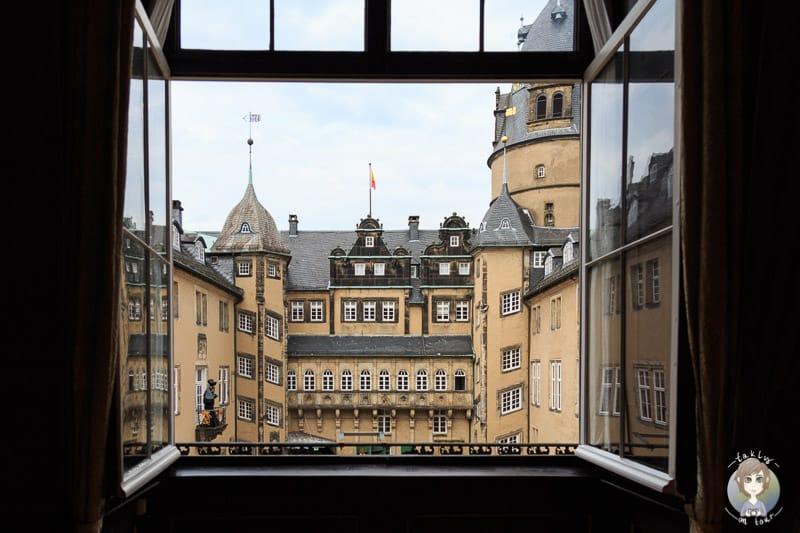 Aussicht auf einer Schlossführung durch das Residenzschloss Detmold