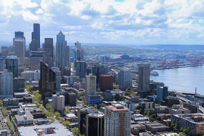 Die Aussicht auf Seattle