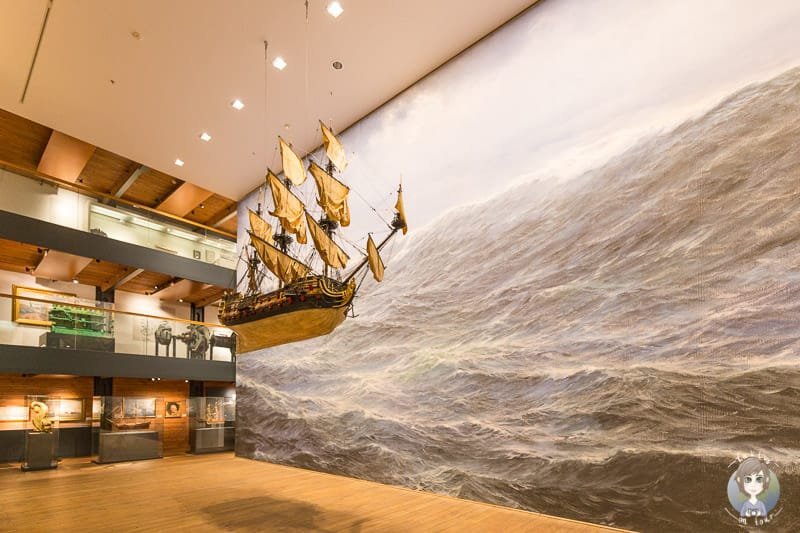 Segelschiff im Internationalen Maritimen Museum Hamburg