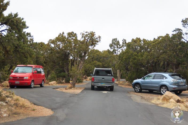 Stellplätze auf dem Desert View Campground