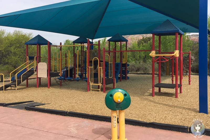 Ein schöner Kinderspielplatz im Sunset Park in West Sedona