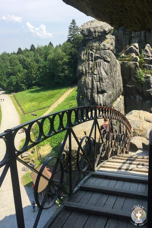 Die Treppe am Turmfels auf den Externsteinen