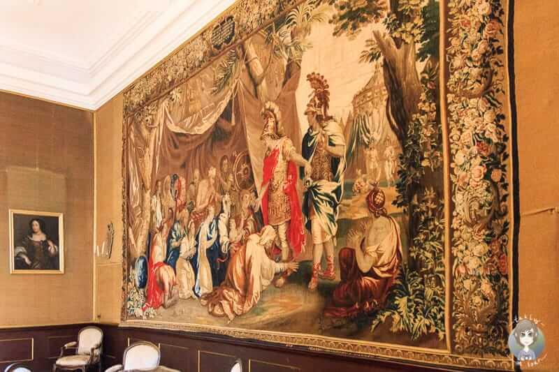 Ein Wandteppich im Schloss Detmold