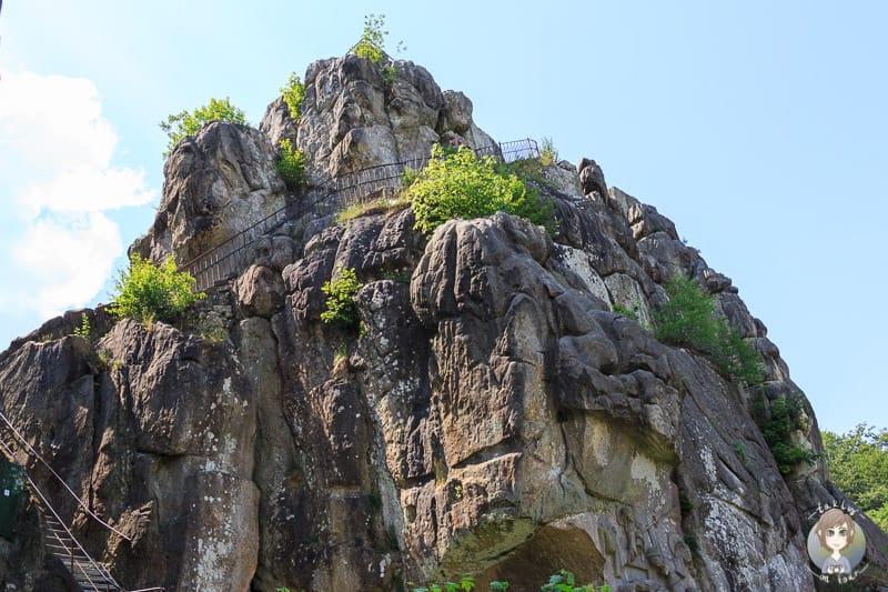Der Weg zur Aussichtsplattform der Externsteine