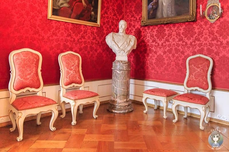 Roter Saal im Schloss Detmold