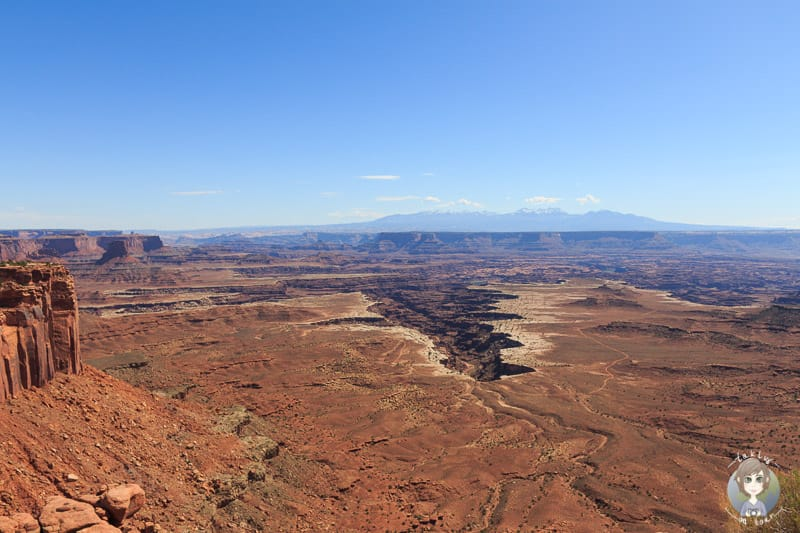 Die Aussicht vom Grand View Point Overlook im Canyonlands National Park