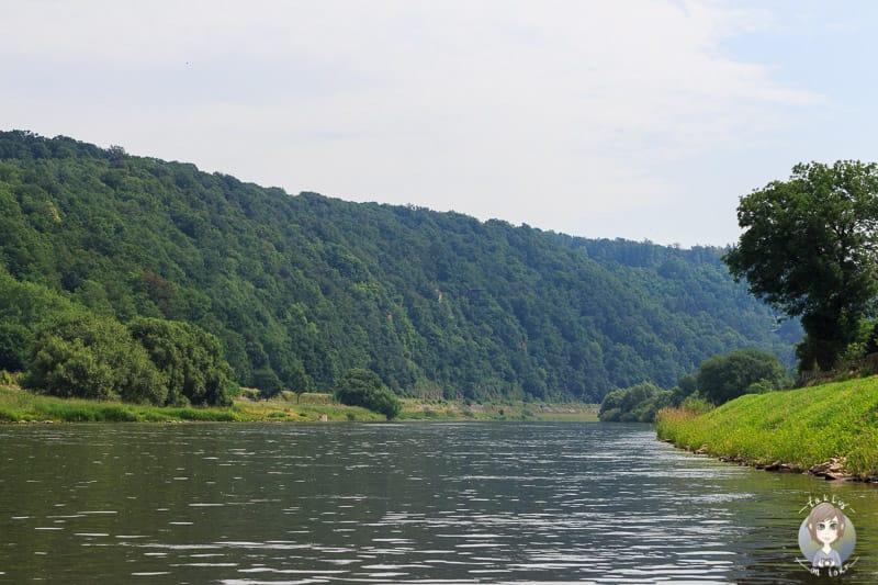 Aussicht über die Landschaft an der Weser