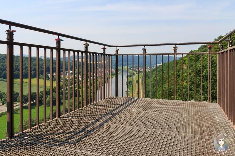 Die Weser Skywalk - Plattform im Weser Bergland