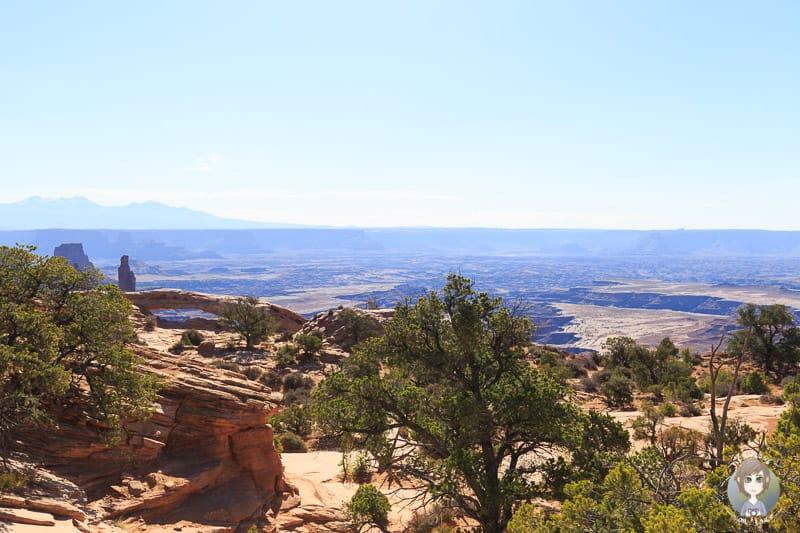 Tolle Aussichten auf den Mesa Arch