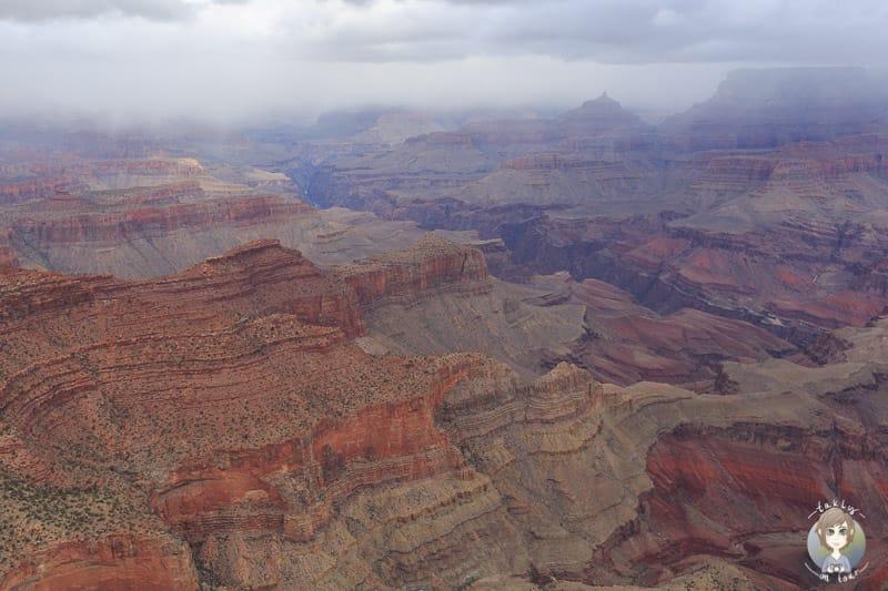 Gigantische Ausmaße werden vom Moran Point am Grand Canyon sichtbar