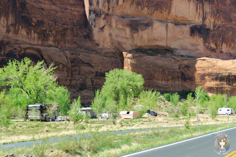 Einer der BLM Campingplätze entlang des Scenic Byways in Moab