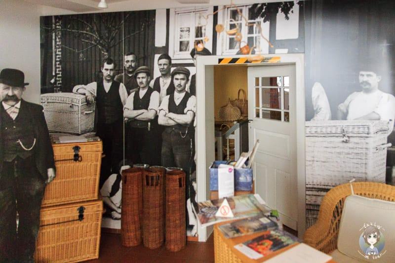 Ein Blick in das Korbmachermuseum Dalhausen